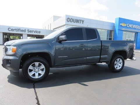 2015 gmc canyon sle 4wd extended cab cyber grey metallic youtube. Black Bedroom Furniture Sets. Home Design Ideas