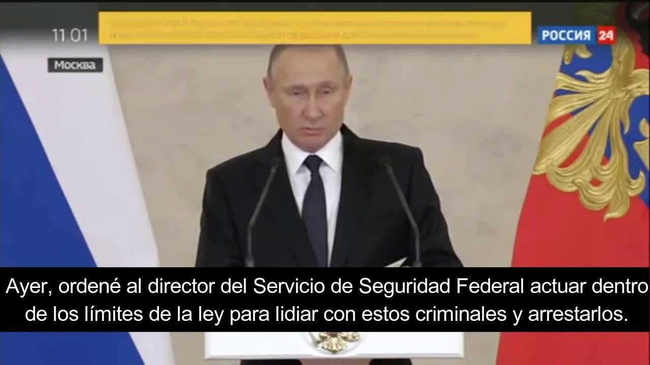 """Putin: """"Si estáis en peligro, acabad con ellos"""""""