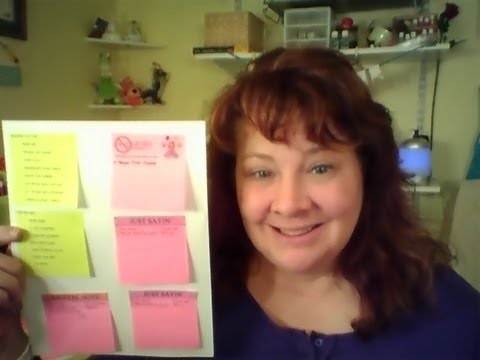 How To Print on Post It Notes - DIY Great for Fly Lady Routines and Filofax Planners