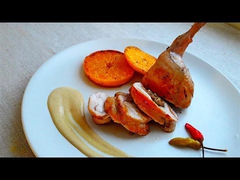 Кролик Фаршированный Грибами. Рецепты из Кролика.  Rabbit leg stuffed with mushrooms.