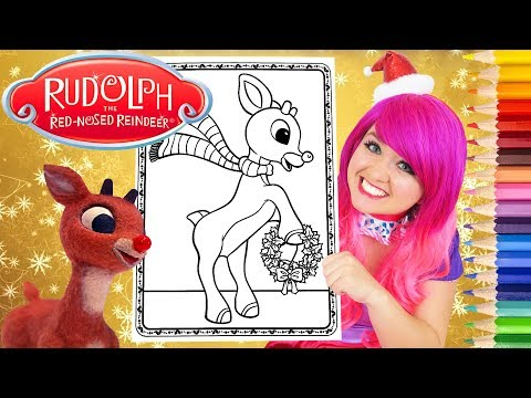 Coloring Rudolph The Red-Nosed Reindeer Coloring Page Prismacolor Pencils | KiMMi THE CLOWN