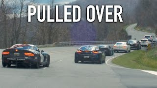 15 Second Police Pullover for 100MPH?! - The Corsa Rally