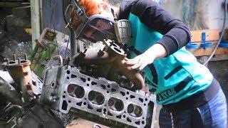 Закипел мотор, повело головку блока цилиндров, заклинил стартёр.