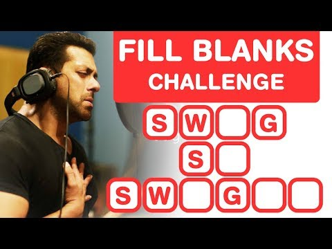 Salman Khan Songs - Fill in the Blanks Challenge - Bollywood Quiz