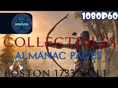 Assassin's Creed III Walkthrough: Collectibles: Almanac Pages -  Boston 1733 Vol1