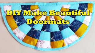 DIY Make Easy Doormat with Old Clothes | Beautiful Doormats at Home Cutting and Stitching