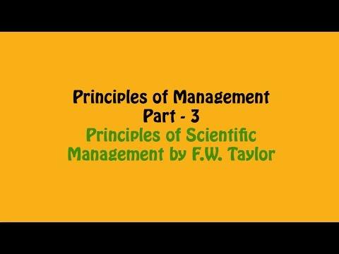 Principle of Scientific Management by FW Taylor, Principles of Management Part - 3, Business Studies