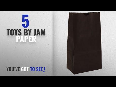 "Top 10 Jam Paper Toys [2018]: JAM Paper Lunch Bags - Medium - 5"" x 9 3/4"" x 3"" - Black Kraft -"