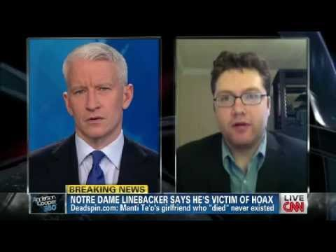 Deadspin Editor Timothy Burke on Anderson Cooper 360 talking Manti Te