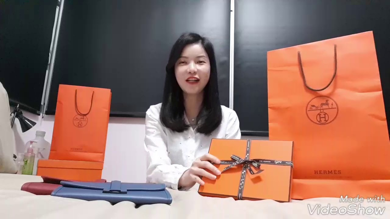 reliable quality limpid in sight diversified in packaging Hermès Envelope Trio Wallet Clutch Unboxing & Review // 爱马仕套装手拿包开箱