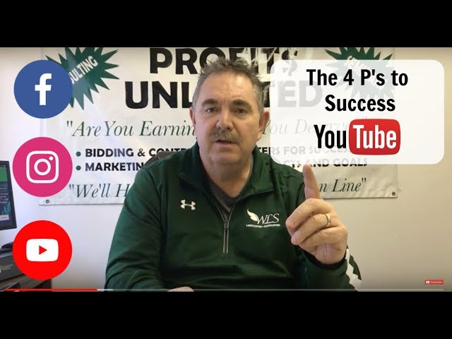 The 4 P's to success