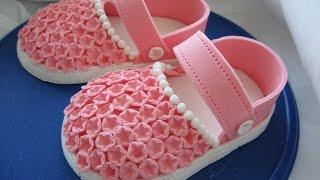 Как сделать сандалики для девочки из сахарной мастики