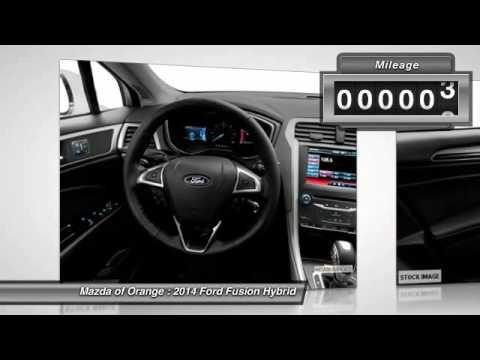 2014 Ford Fusion Hybrid Orange CA 00441063