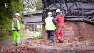 Explosive Chimney Demolition Project, Riverside Mill Leeds - Completed by Bagnall UK