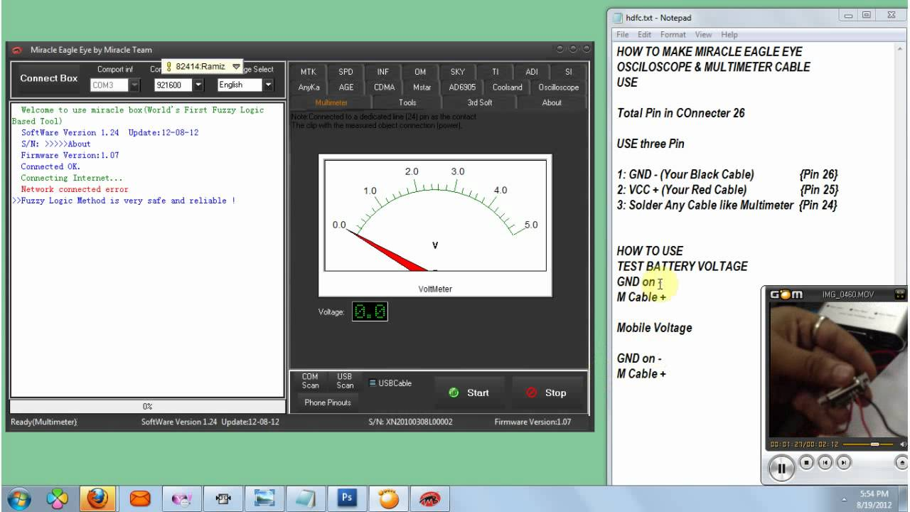 MIRACLE EAGLE EYE HOW TO OSCILLOSCOPE & MULTIMETER CABLE MAKE HOW TO ...