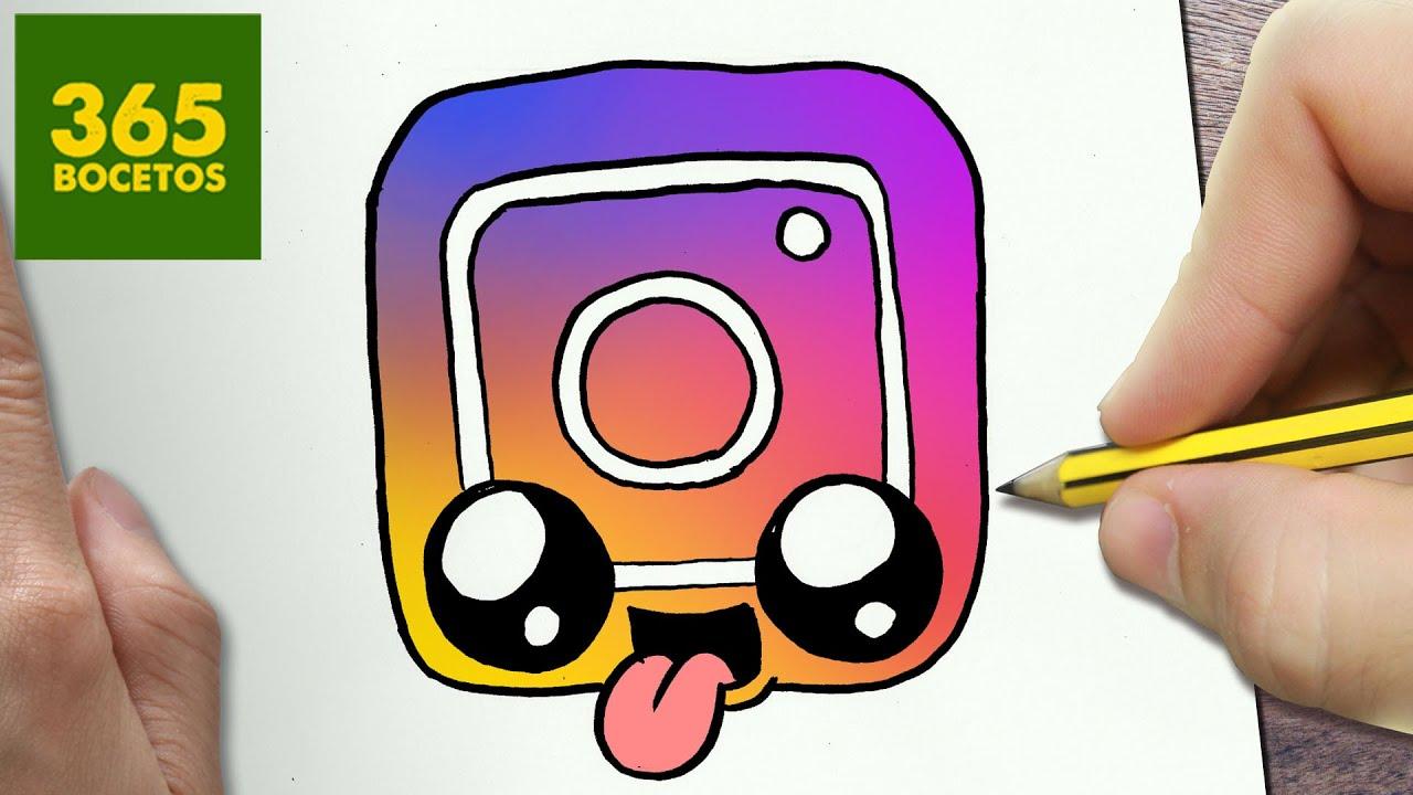 Como Dibujar Logo Instagram Kawaii Paso A Paso Dibujos Kawaii Faciles Draw A Logo Instagram
