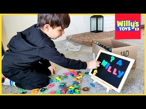 magnetic-letters-and-numbers-board-toy-review---learn-to-read-abcs---willy's-toys