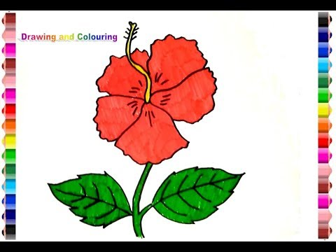 Gambar Bunga Raya Lukisan