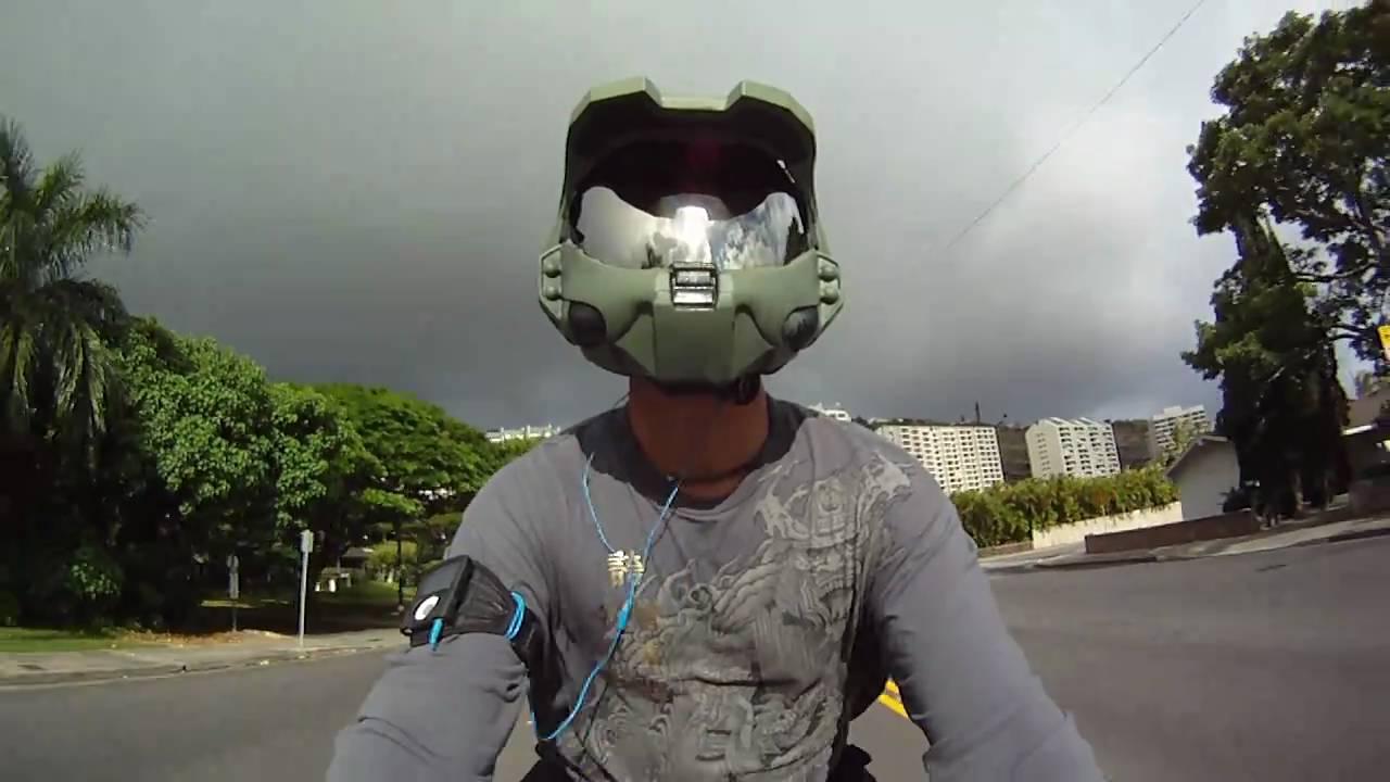 Master Chief Halo Custom Motorcycle Helmet On Yamaha R1