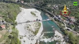 Total collapse | Italian bridge left in ruins