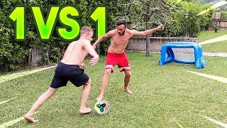 ⚽ 1 vs 1 FOOTBALL CHALLENGE! w/Fius Gamer, Ohm & Tatino