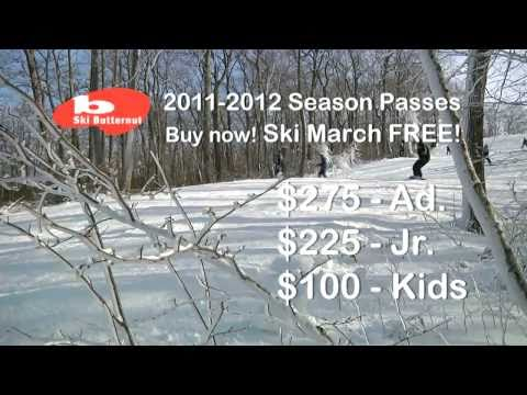 SKI BUTTERNUT Ski March FREE! Buy a 201112 Season Pass Now 30Sec TV 1
