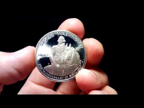 Half Dollar 50 Cents USA 1982 George Washington 250 Anniversary Of Birth.