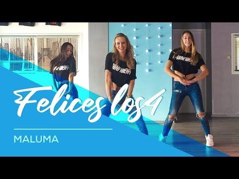 Felices Los4 - Maluma - Easy Fitness Dance Choreography - Baile - Coreografia