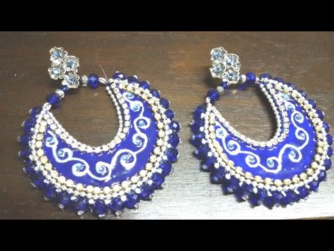 1. Chand Bali Earrings Tutorial