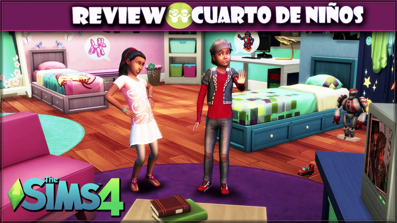 Los sims 4 cuarto de ni os review cas objetos y gameplay for Cuartos para ninos sims 4