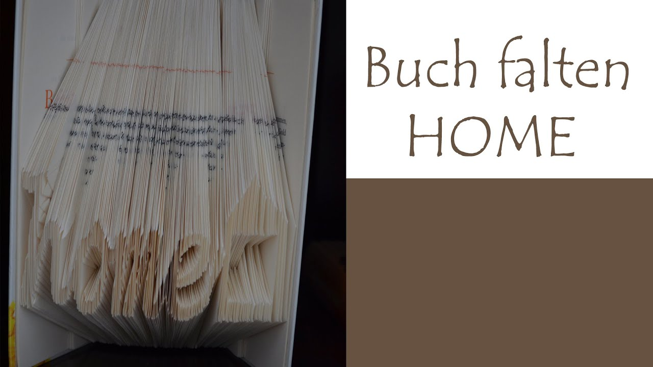 Text in ein Buch falten - HOME - YouTube