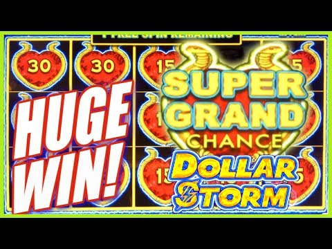 ★ HUGE WIN! ⚡️ SUPER GRAND JACKPOT CHANCE! ★ FIRST Time PLAYING Dollar Storm | Slot Traveler