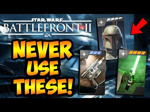 Star Wars Battlefront 2 - 10 TERRIBLE Hero Star Cards You Should NEVER Use! (Battlefront II)