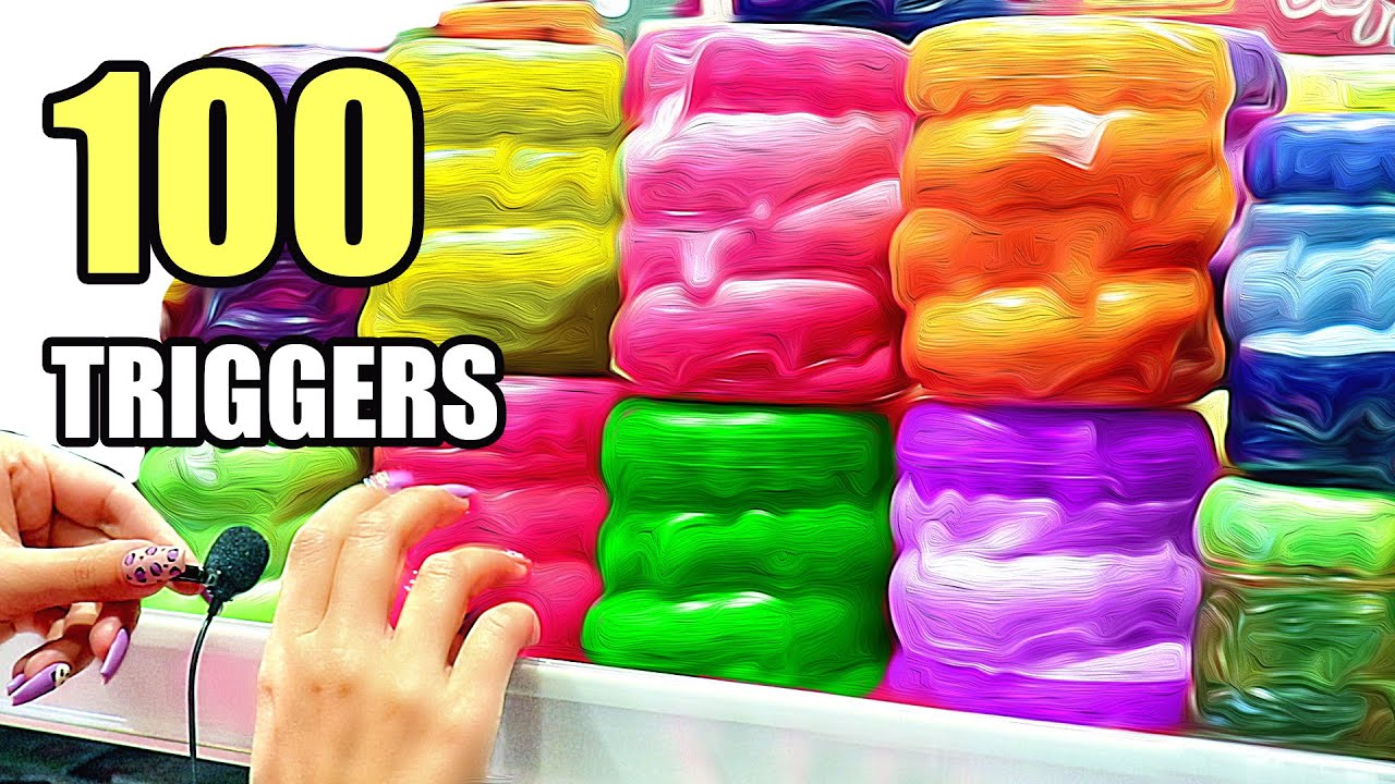 ASMR 100 TRIGGERS in 5 minutes for SLEEP & TINGLES | АСМР 100 ТРИГГЕРОВ за 5 минут 100% МУРАШКИ
