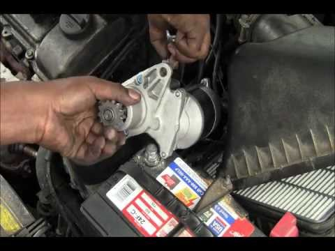 Replacement Of A Starter On 1999 Toyota Solara