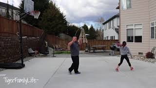 Dad vs Daughter | 1st Basketball Game 1 on 1 | TigerFamilyLife~