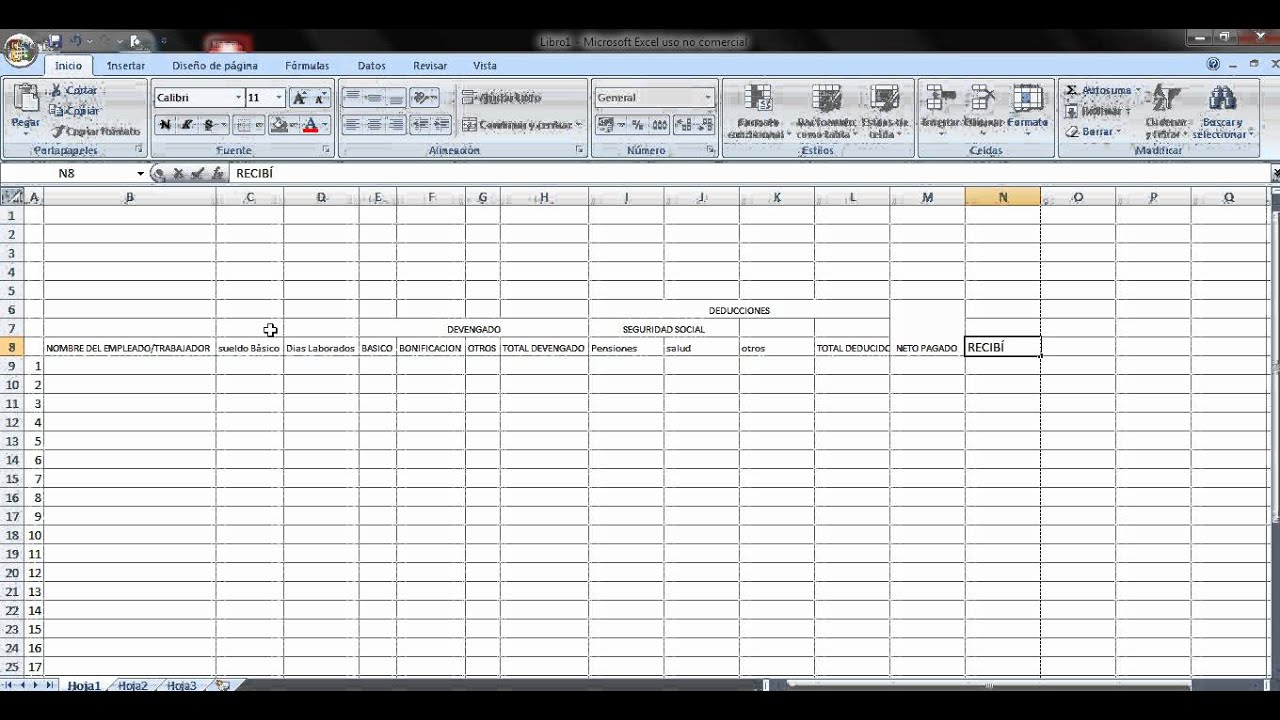 Video excel elaboracion de n mina youtube for Modelo de nomina en excel