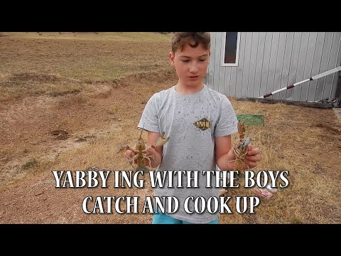Yabbying With The Boys