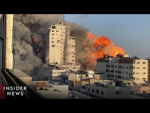 Dramatic Footage Shows Gaza Under Attack And Missiles Targeting Israel
