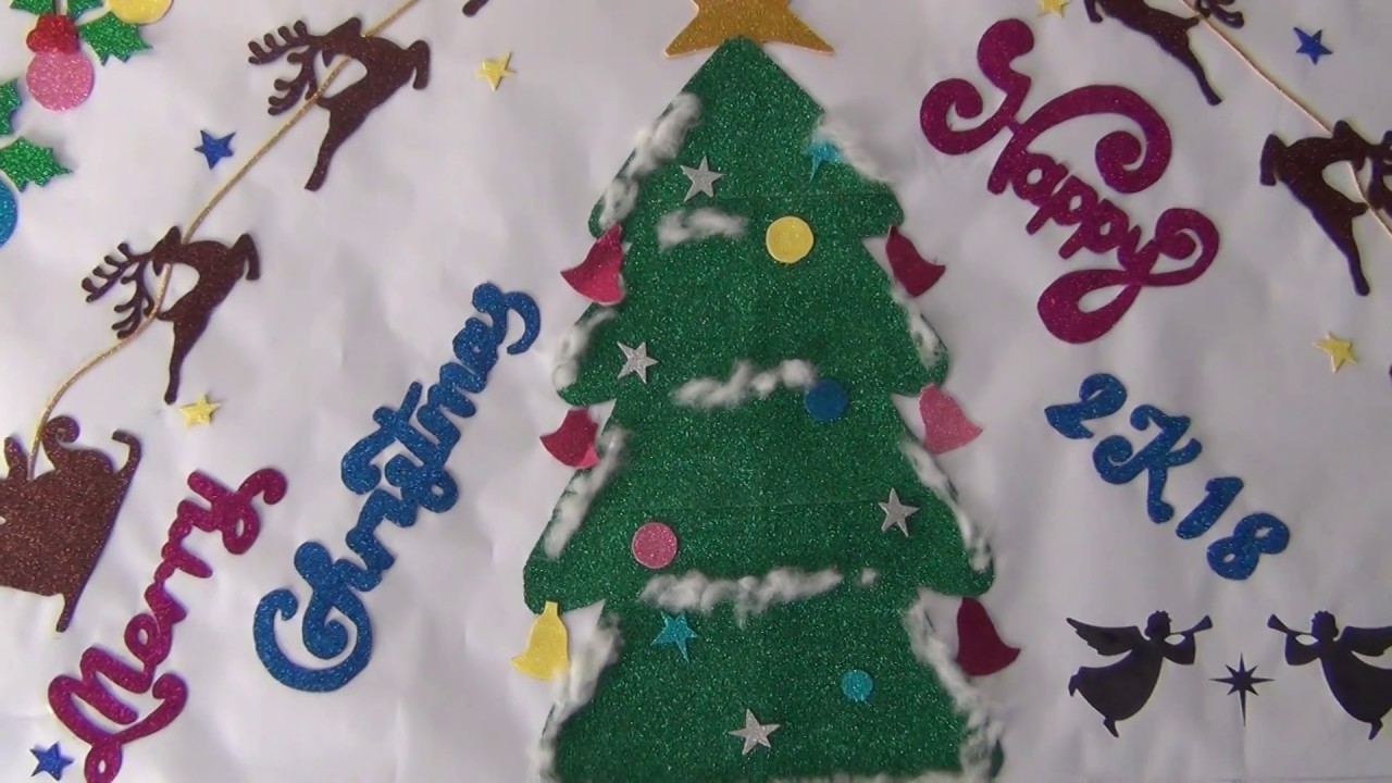 Christmas Tree Display Board.Christmas 2017 School Display Board Decoration By Teachers And Students
