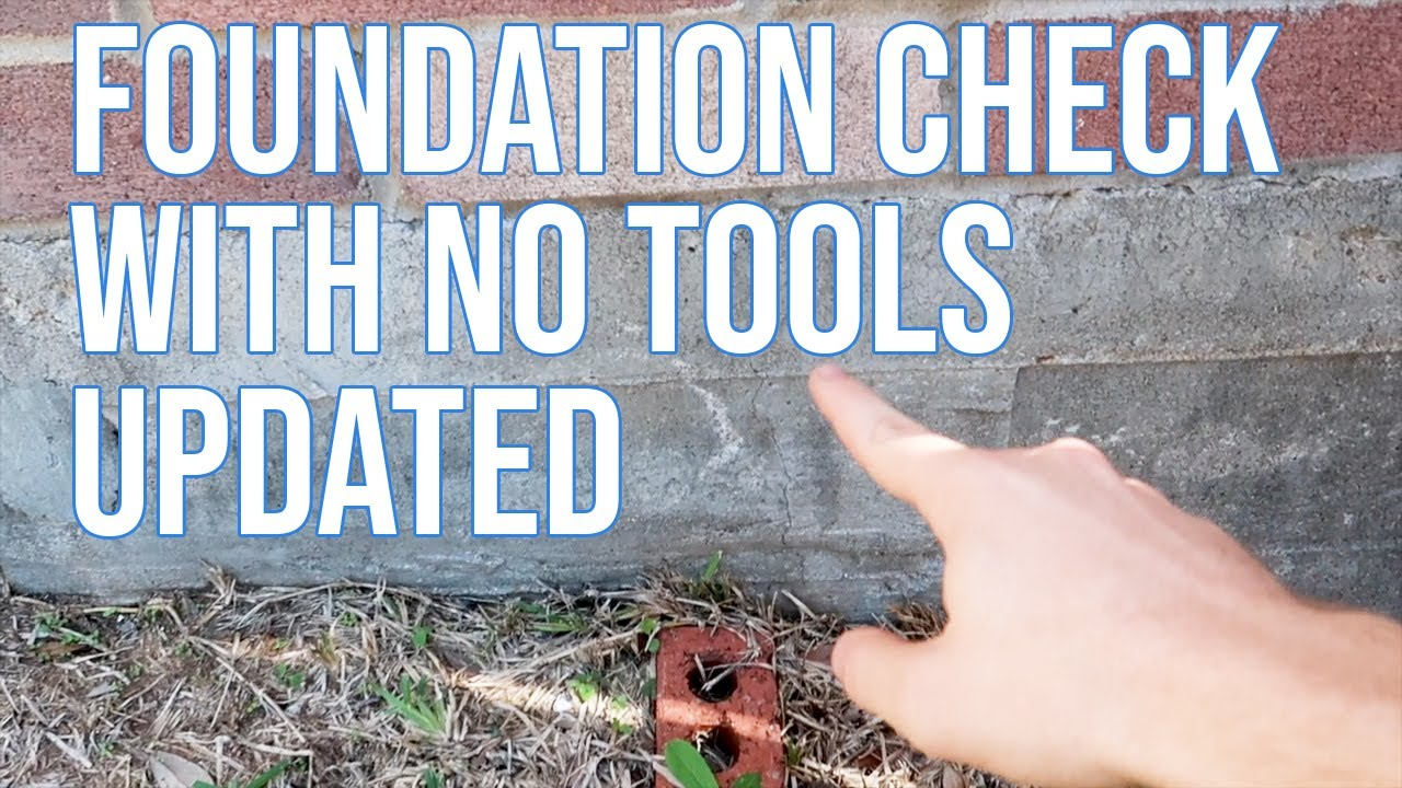 How to find Foundation Issues with No Tools - Updated