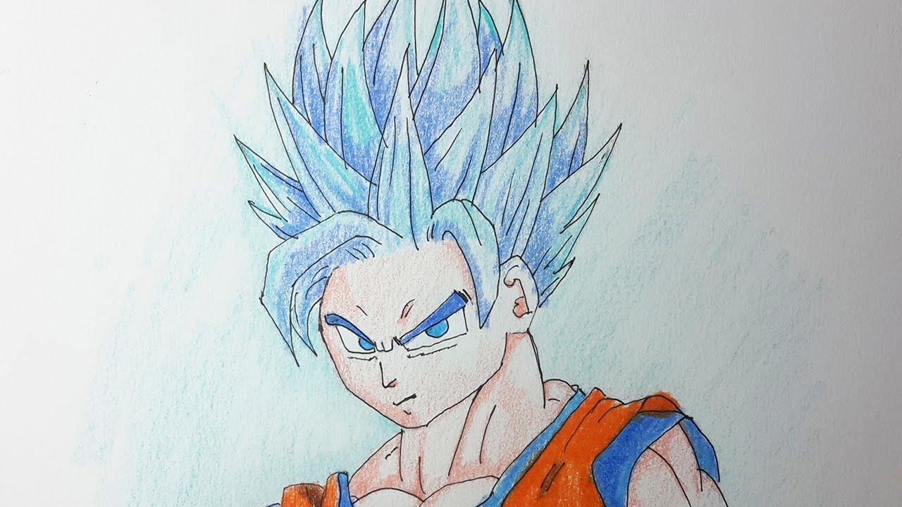 Goku Super Sayayin Dios Azul Para Colorear: Como Dibujar A Goku SSJ Fase Dios AZUL Paso A Paso [El
