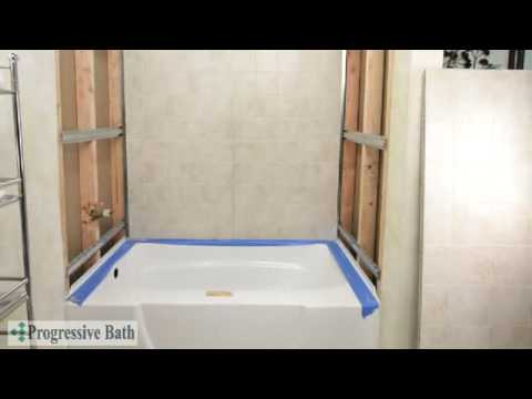 how to replace your tub with a roomy bath-wrap shower? - youtube