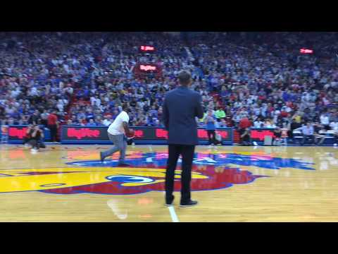 Sherron Collins' half court shot at Late Night wins money for students | KUsports Video