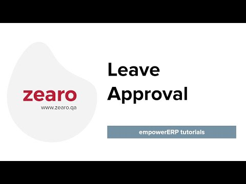 How to Approve Leave in EmpowerERP