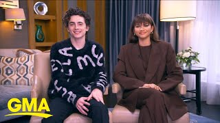 Timothee Chalamet and Zendaya talk about their new film, 'Dune' l GMA