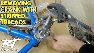 Removing VERY Stuck Crank Arm With Damaged Threads Video