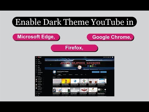 How to Enable YouTube Dark theme in Chrome, Firefox, Edge tutorial by, Amjad Graphics thumbnail