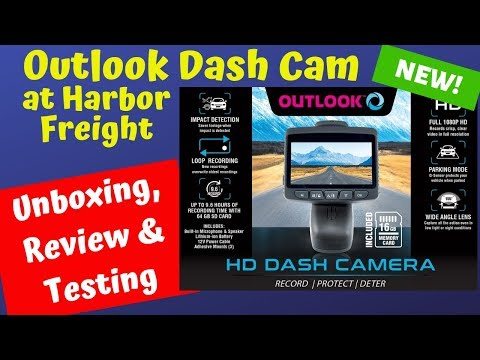 Outlook 1080P HD Dash Cam Unboxing & Review