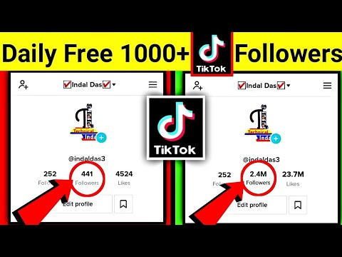 Download Get Free 1000 Followers, Likes In Every Minute || Free Tiktok Followers Hack || (Working Video)